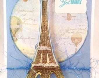 Eiffel Tower Get Away Card
