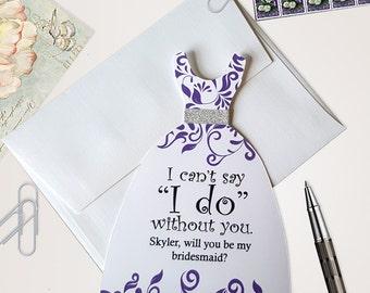 Will You Be My Bridesmaid Card /  Bridesmaid Proposal Cards / Asking Bridesmaid Card Set
