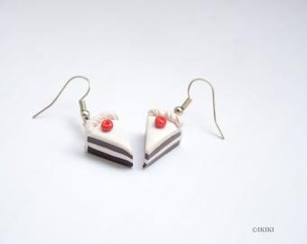 Polymer Clay Cake Earrings, Cake Slice Earrings, Clay