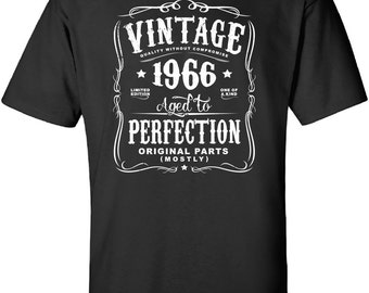 51st Birthday Gift For Men and Women - Vintage 1966 Aged To Perfection Mostly Original Parts T-shirt Gift idea. More colors available N-1966