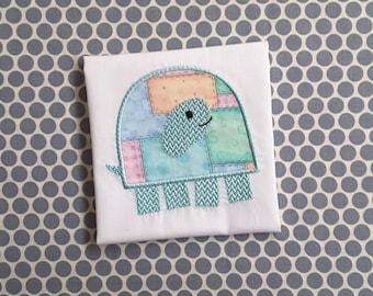Applique Machine Embroidery Design Baby Turtle