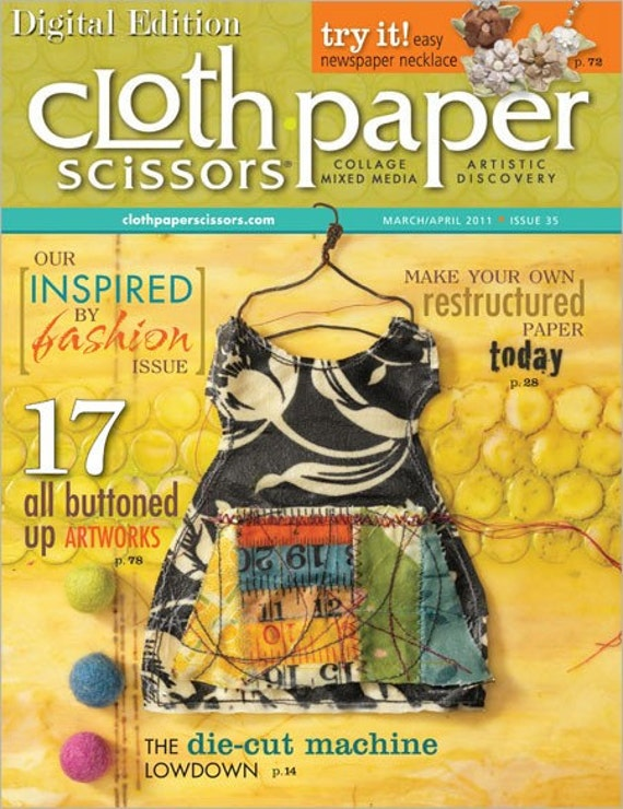 Cloth Paper Scissors Magazine March/April 2011