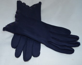 Ladies Navy Gloves