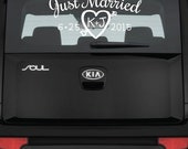 Just Married Car Decal - ...