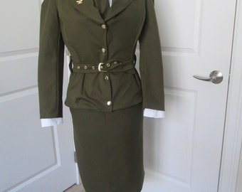 Peggy Carter Costume; World War II Military Uniform; Cosplay; 1940's Outfit; Women's Military Outfit; Marvel Cosplay; Captin America