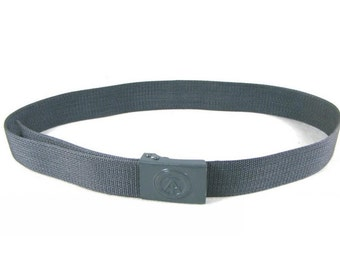 "1980s Genuine East German Army Belt & Buckle In Grey 110cm Long 44"" DDR NVA Cold War New/Never Issued"