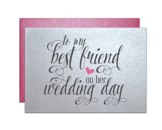 Good Wedding Gifts For Friends: Wedding Gift Card For Best Friend Wedding Bridal By