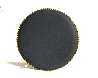 Seat Cushion ROUND 'N' ROUND, Leather Seat Cushion, Recycled Leather, Round Chair Pad, Bench Seat Cushion, Industrial Decor, Minimalist
