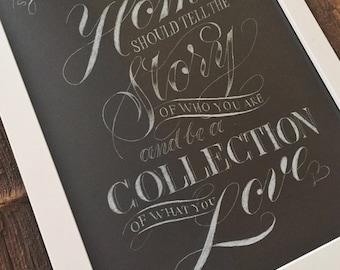 Custom Typography / Lettering Poster on Illustration Board