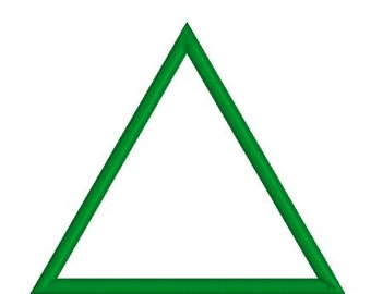Embroidery Applique Triangle Design Pattern Outline (Two satin widths)