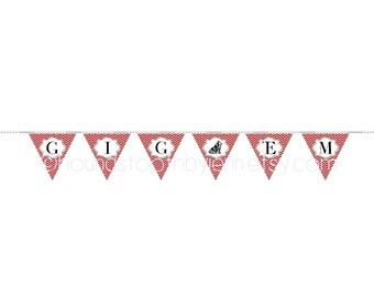 sec logo pennant printables sec school banners printable