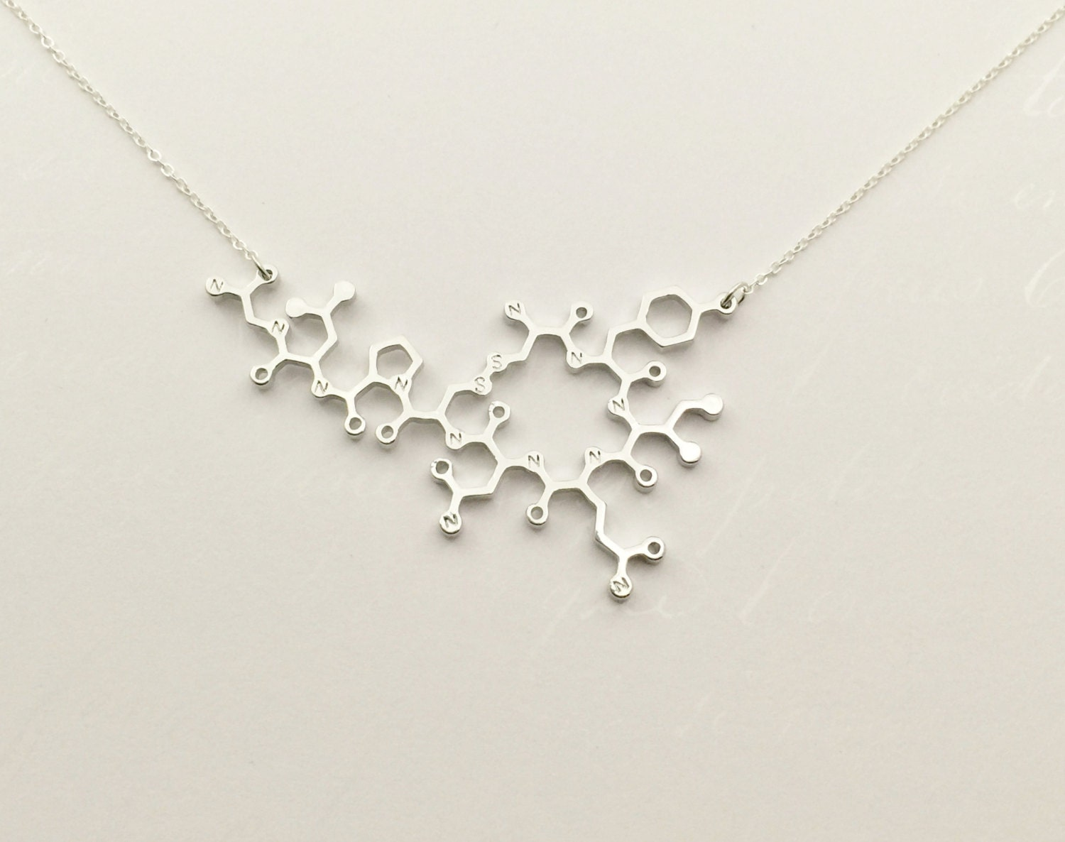 oxytocin molecular necklace gift for doctor obgyn by
