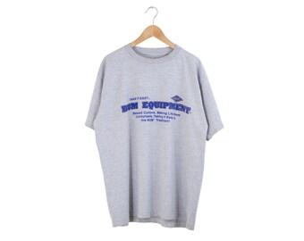 BUM EQUIPMENT SHIRT / b.u.m. equipment tee / bum tshirt / grey gray / street wear / urban / hiphop / 90s vintage / adult / xl