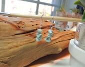 Larimar earrings - Sterling silver earrings - sterling silver and larimar earrings - beach earrings - larimar jewelry - boho earrings