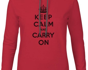 Big Texas Keep Calm and Carry On (Black) Mens Fine Jersey Hooded T-Shirt