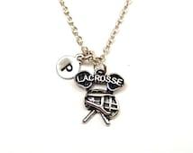 Lacrosse Necklace, Lacrosse Jewelry, Lacrosse Charm, Lacrosse Pendant, Lacrosse Mom, Lacrosse Team Gift, Lacrosse Gifts, Girls Lacrosse