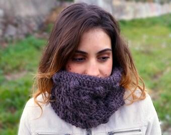 Crochet neck warmer, chunky infinity scarf, chunky cowl, crochet scarf MP009