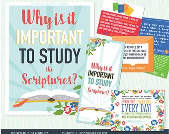 May {Come Follow Me} Why is it important to study the scriptures? Teaching Package