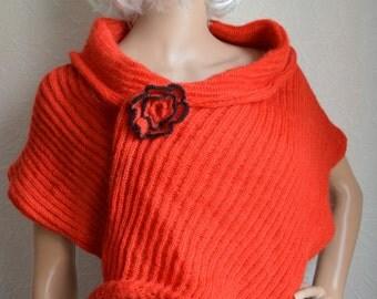 Knitted women's summer shawl