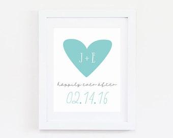 Personalized Wedding Gift for Couple - Wedding Date Sign - Wedding Gift Personalized - 1st Anniversary Gift for Wife - Wedding Date Gift