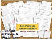 Midori Journal tn inserts mtn REGULAR + PERSONAL Project life planner kit organizer template management planning setting goal digger GTD