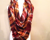 Blanket Scarfs oversized plaid tartan zscarf SALE brown monogram
