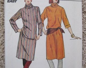 UNCUT Misses Dress, Tunic and Skirt - Butterick Pattern 4595 - Vintage 1990's