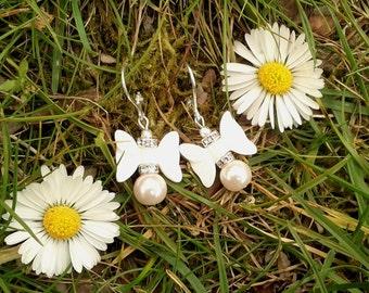 minimalist earrings bridal earrings minimalist jewelry boho chic earrings babydoll earrings bridesmaid earrings