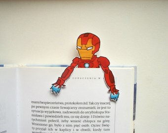 Iron man bookmark - marvel, avengers, last minute gifts