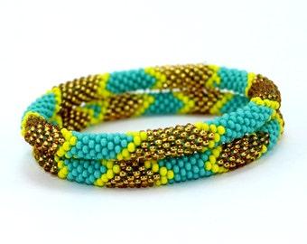 Roll On Bracelets Beaded Bracelets Handmade Bracelets Nepali Bracelets Anthropologie Style Bracelet Bohemian Bracelets Yoga Bracelets