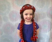 Dorothy Hair, Dorothy Costume, Dorothy wig, Dorothy Wizard of Oz, Yarn Hair, Dress up Trunk, Dress up, Dorothy Dress, Wizard of Oz Costume