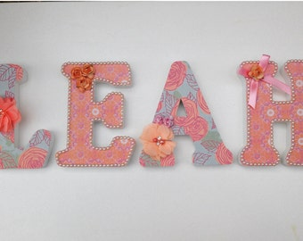 Wooden Letters - Nursery Decor - Party Decor - Newborn Personalised Gift