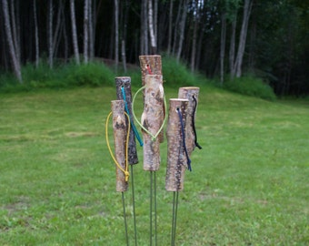 Marshmallow Roasting Stick/Set of 6 Roasters/ Campfire Roaster/
