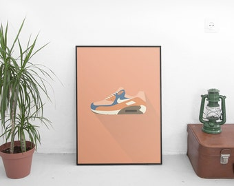 Minimalist Nike Air Max Print | Digital Download