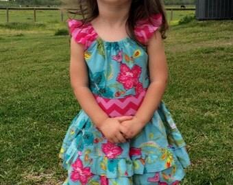 Handmade Toddler/Girl's Ruffle Pant Set Size 2T-8