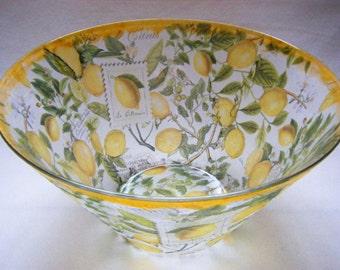 Fruit Bowl/Bowl/'Lemons' Design : weddings, birthdays, anniversaries