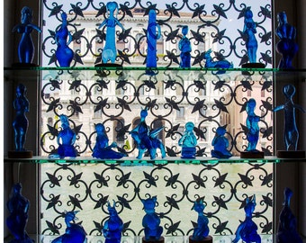 Glass figures in window, Venice Italy
