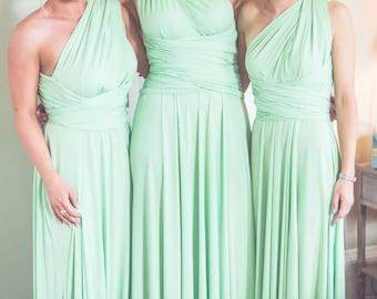 Infinity Dress Multiway Dress Convertible Dress Twist Wrap Dress Bridesmaid Dress Wedding Prom Evening Pistachio Mint