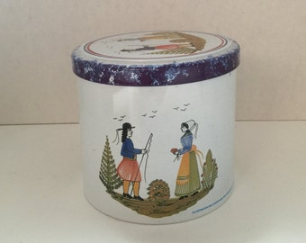 Massilly French Round Cookie Biscuit Tin