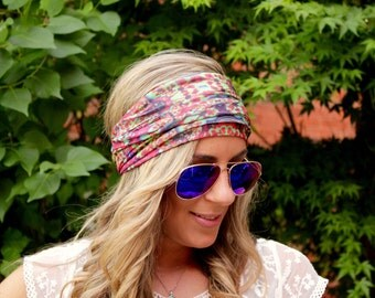 BUY 2 get 1 FREE!! Utopia, Yoga Headband, Workout headband, Jersey Headband, Workout headband, boho Hairband, Running