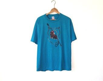 EQUESTRIAN SHIRT // 80s // X-Large // Horse Shirt // Horse T-Shirt // Horse Riding Shirt // Equestrian T-Shirt // Equestrian Shirt // Horse
