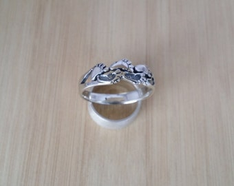 Handmade Sterling Silver Footprints Ring