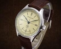 "Molnija ""Lightning"" Unique Custom Made Watch From Soviet Chronometer Pocket Watch Movement - homage pilots omega cortebert marriage railroad"
