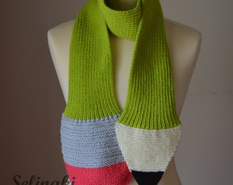 Knitting Pattern For Pencil Scarf : Pencil scarf hand knit