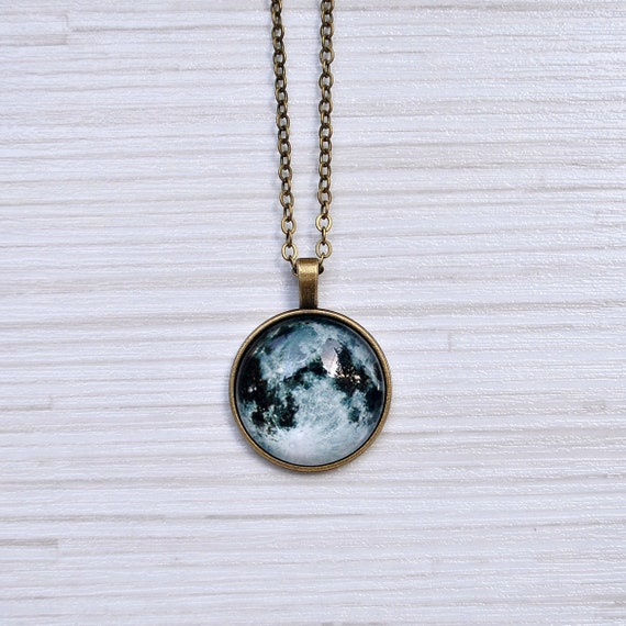 items similar to moon necklace moon pendant