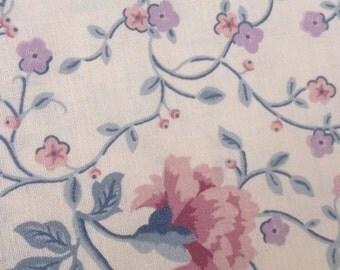 Laura Ashley Vintage Floral Fabric, Craft Fabric, Cotton Fabric, Curtain Fabric, Fat Quarter