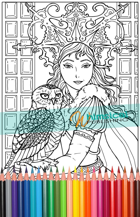 Snow Queen Fairy Tale Coloring Pages By Whimsicalpublishing