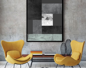 Black and white print, large print, nordic print, Black art, black and white art, grey art, grey prints, scandinavian design, grey wall art