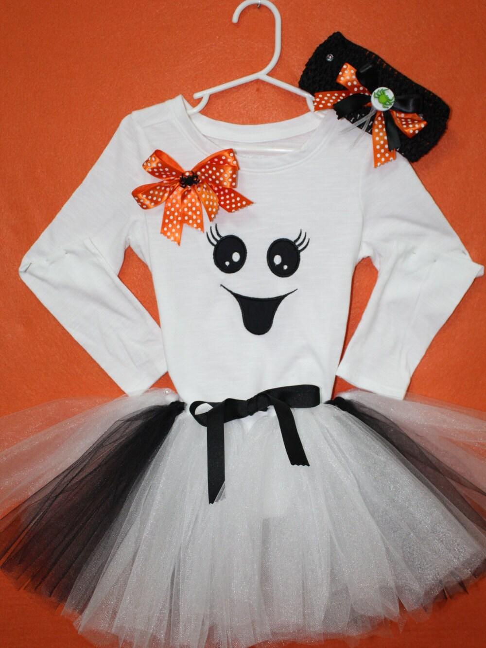 Girl Halloween Ghost outfit, Girls Halloween costume,Baby girl ...