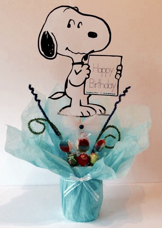 snoopy centerpiece stick birthday party decorations supplies
